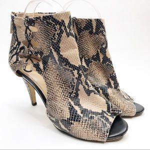 Banana Republic Snakeskin Heeled Ankle Boot Sandal